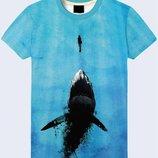 Креативная 3D футболка Под водой