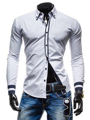 7bc4dde7c47 Стильная рубашка для мужчин белая с полосками  250 грн - рубашки в ...
