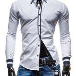 Стильная рубашка для мужчин белая с полосками