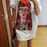 Яркое красивое платье Италия размер См