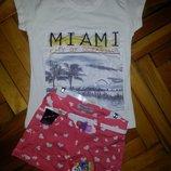 Супер стильная футболка3Д для девочки 9-11лет,Турция отличное качество .