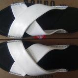 Стильные кожаные белые шлёпанцы Rondo Распродажа 41,42,43,44р.