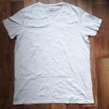 Мужская белая однотонная футболка размер XXL, 26-108 Ю