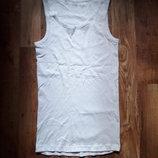 Нательная хлопковая белая майка размер L, 26-116 Ю