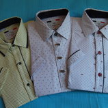 Рубашки слим кор.рукав 4 дизайна рост 116 - 176
