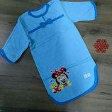 Ночная рубашка теплая на баечке, Сорочка с начесом, хлопок 86-92-98-104-110-116-122-128-134