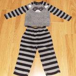 Флисовая пижама George для мальчика 2-3 года, 92-98 см