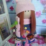 Интерьерная кукла куколка Ваниль 27см