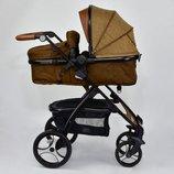 Универсальная коляска-трансформер 2в1 JOY 8682 COFFEE
