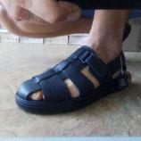 Распродажа Мужские кожаные синие сандалии Bertoni 43,44,45р.