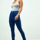 Asos Темно синие джинсы . Размер хл-ххл 36R . Фасон скинни , высокая посадка, красивый темно