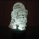 R2D2, ночник светильник лампа, звездные войны, подарок ребенку, оригинальный декор, освещение