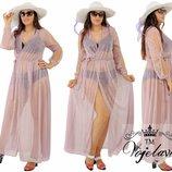 пляжное платье.ткань- сетка с люрексовой нитью.