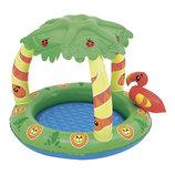 надувной бассейн с навесом bestway 52179 джунгли
