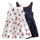 Детское хлопковое летнее платье с оригинальной спинкой, 2 цвета, 2-7 года, новые