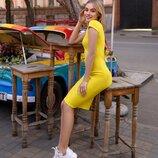 Акция Трикотажное платье футляр с вырезом от р40 по р52 классическое за колено разные цвета