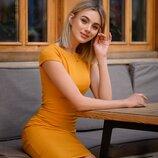 Шок Платье-Миди футляр от р40 по р52 классическое за колено трикотаж разные цвета с вырезом