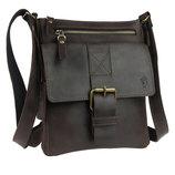 Кожа. Ручная работа. Кожаная коричневая мужская сумка через плечо. Барсетка.