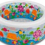 Детский надувной бассейн «Аквариум» Intex