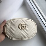 Сумка на пояс , поясная сумка Gucci white
