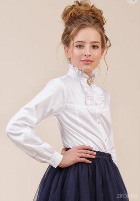 Блуза белая для девочки в школу