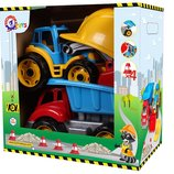 Игровой набор Малыш - строитель, Машинки Самосвал Трактор и каска, Технок
