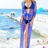 Кружевная пляжная туника пляжная накидка