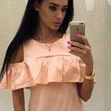 Кофточка с воланом блузка с рюшей