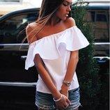 Блузка с воланом летняя блузка волан