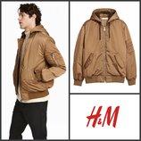 Куртка деми утепленная с капюшоном от h&m