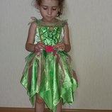 Платье феи динь динь или весенней принцессы 2-5года