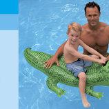 Надувн. Крокодил 58546 винил, с ручками 3 лет , рем комплект, в кор. 168 86см