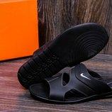Мужские кожаные шлепанцы Nike grey star