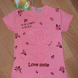 3D футболки для девочек 1-8 лет