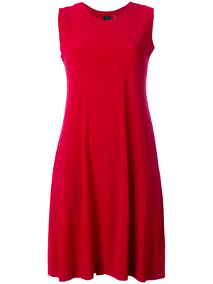 e33db4f0b5c Красное летнее платье с юбкой солнце клеш