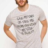 2-54 Мужская футболка DeFacto одежда Турция чоловіча футболка майка мужская одежда