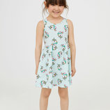 Летний сарафан платье Нм H&M с Единорогами р.4-6, 6-8 лет. Новая коллекция