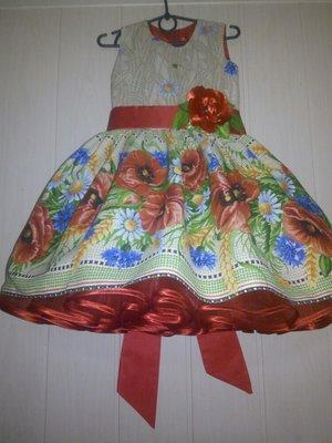Платье нарядное детское украинское много моделей