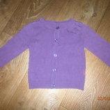 Фиолетовая кофточка Натмег на 18-24 мес