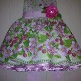 Пышное яркое платье вишенка украинское детское