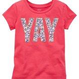 Яркая футболка Carters Картерс девочке 4-5 лет. Новая с биркой