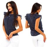 Шифоновая блузка легкая летняя блуза в расцветках
