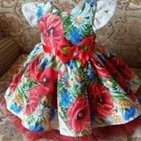 Нарядное детское платье в укр стиле