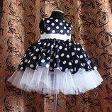 Нарядные платья в горох детские