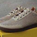 Летние мужские кожаные туфли высокого качества бежевые