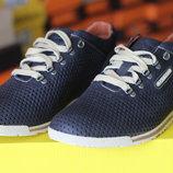 Кроссовки мужские ClubShoes синие с перфорацией