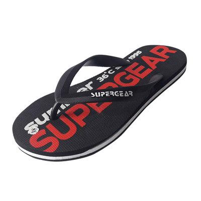 Мужские черные шлепки Super Gear - 3673