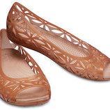 Crocs Isabella Jelly Flat W11 стелька 27,5 см. балетки крокс