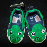 Моднячие пинетки H&M 16/17р,ст 11 см.Мега выбор обуви и одежды