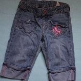 Джинсовые шорты-бриджы ф.H&Mдля девочки р- 98/104 в хорошем состоянии